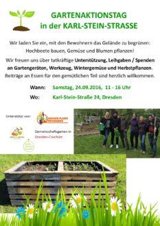 Gartenaktionstag mit Geflüchteten @ Karl-Stein-Straße 24 | Dresden | Sachsen | Deutschland