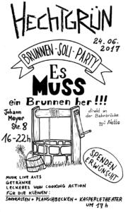 Brunnen-Soli-Party @ hechtgruen | Dresden | Sachsen | Deutschland