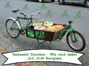 Fahrradnacht Dresden: Das UFER-Lastenrad auf Tour @ Postplatz Dresden