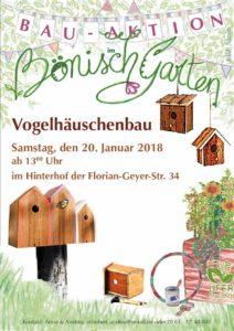 Vogelhäuschenbau @ Bönischgarten, Hinterhof