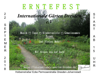 Erntefest in den internationalen Gärten @ internationale Gärten e.V.